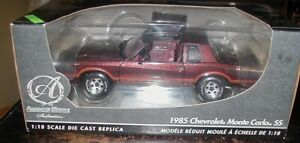 ERTL American Muscle Authentics 1985 Chevy Monte Carlo SS Diecast Scale 1:18. 82