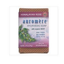 6 x 78g AUROMERE Ayurvedic Neem Soap Himalayan Rose