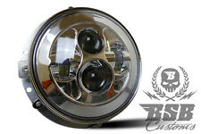 "LED Touring Scheinwerfer 7"" Chrom mit E, Street Glide, Road King, Electra Glide"