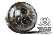 """LED Touring Scheinwerfer 7"""" Chrom mit Montagering für Touring Modelle FLHX FLHR"""