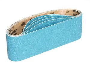 75 X 533mm Sanding Belts Zirconia Grit 40 / 60 / 80 / 120  Highest Quality Belts