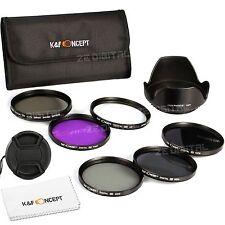 K&F Concept 55mm 6pcs Lens Accessory Filter Kit Uv Protector Circular Polarizing