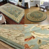Green Quality Traditional Classic Oriental Design EASY CARE Rug Runner Mats