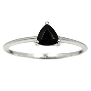 Black Onyx - Brazil 925 Sterling Silver Ring Jewelry s.9 BR92310