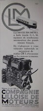 PUBLICITÉ DE PRESSE 1933 CLM COMPAGNIE LILLOISE DE MOTEURS DIESEL - ADVERTISING
