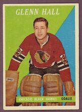 1958-59 TOPPS HOCKEY #13 GLENN HALL CHICAGO EX+ CHICAGO BLACK HAWKS Card
