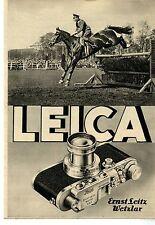 Ernst Leitz Wetzlar LEICA Historische Reklame von 1937
