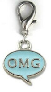 NEW Diva Dog Cat Pet Jewelry Gift Enameled Collar Charm Lobster Clasp OMG Blue