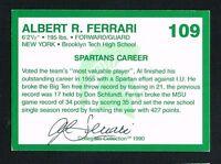 Albert Ferrari 1990 Michigan State Collegiate Collection signed autograph auto