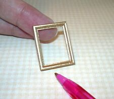 "Miniature Wood Frame, GOLD, 7/8"" x 1 1/8"": DOLLHOUSE Miniatures 1:12 (1:24)"