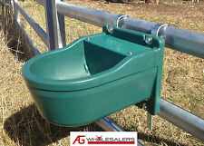 WATER TROUGH 9.3L & STEEL BRACKET - AUTOMATIC FLOAT - FENCE DRINKER HORSE CATTLE