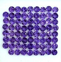 AAA QUALITY NATURAL AMETHYST ROUND CUT PURPLE 3 MM LOOSE GEMSTONE LOT