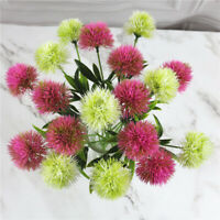 Artificial Dandelion Flower Fake Grass Ball Bouquet For Wedding Home Garden