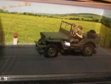 1:43 Scale MILITARY JEEP  French diorama Blue route series by Altaya