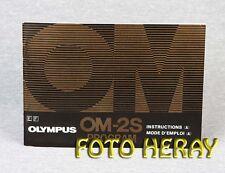 Olympus OM2S Program original operating instructions E. F. 02402