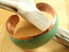 Handmade Copper Cuff Bracelet, Green Patina - 100% Recycled Copper Mexico Import
