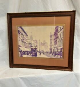 Vintage Framed Photograph of Church Street in Liverpool