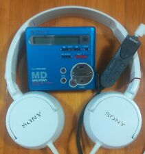 Sony Mzr70 Portable Md Minidisc Recorder/Player & Sony Mdr-Zx100 Headphones.