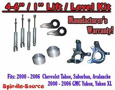 "2000- 2006 Chevrolet GMC 1500 4"" - 6"" / 1"" Lift Kit Spindles key Spacer + SHOCKS"