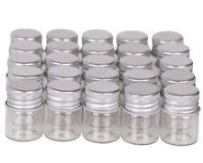 100pcs Tiny Vials 5ml Small Glass Bottles Mini Jars with Aluminum Screw Lids Top