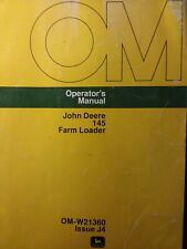 John Deere 145 Front End Bucket Loader Tractor Owners Manual 820 2030 2130 1020