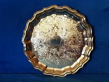 Ranleigh Quality Silverware Round Serving Tray Vintage Silver Plate