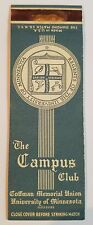 Rare Matchbook Cover - THE CAMPUS CLUB - University of Minnesota