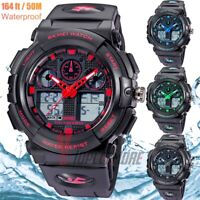 Men's Date Quartz Military Digital Tactical Fashion Shock Sports LED Wrist Watch