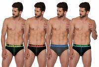 Lux Cozi GLO Men's Multicolored Cotton Briefs (Pack of 4) super combed cotton