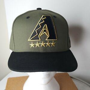 OD Green New Era 59FIFTY Arizona Diamondbacks Ball Cap Trucker Hat  7 1/2