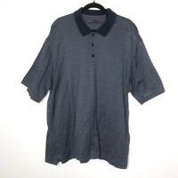 Axis Mens Size XXL Polo Shirt Short Sleeve Blue Casual 100% Cotton