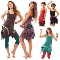 Organic Cotton Pixie Dress, Psy Trance Dress, Goa Fairy, Plus Size Fae Dress XXL