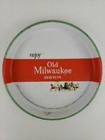 "Rare Vintage 1960 Enjoy Old Milwaukee Beer 13"" Metal Tin Serving Tray Schlitz"