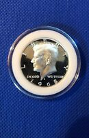 1968 S Kennedy Half Dollar Gem Proof~40% Silver In Coin Capsule!