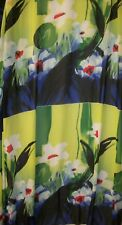 "Vintage Floral Chiffon or Georgette Sheer Dress Fabric 2.2 Yards x 60"" Wide"