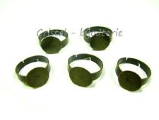 ♥FP1-249♥5 X BASES DE ANILLO BRONCE AJUSTABLE FORNITURAS 12 MM ♥