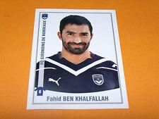 66 BEN KHALFALLAH GIRONDINS BORDEAUX LESCURE PANINI FOOT 2011 FOOTBALL 2010-2011