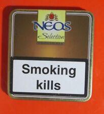 Neos Mini 10 Cigars Selection Chocolate Filter Belgium Tin Metal Box Empty