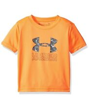 NWT Under Armour Heatgear Toddler Boys Short Sleeve Tee T-Shirt Size 4 Orange
