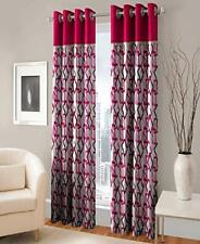 New 2 Piece Eyelet Polyester Window Curtain- 5 ft