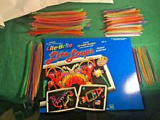 "120+ Lite Brite 3D Replacement Peg Flexible Loops 8 Colors 7"" And 5"" + 8 SHEETS"