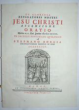 RESURREZIONE - ediz. 1757 - oratio - raro - roma