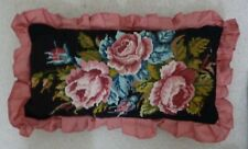 VINTAGE NEEDLEPOINT CUSHION,FLORAL