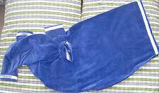 Royal velours bleu détail or zip CORNEMUSE Housse support velcro Highland