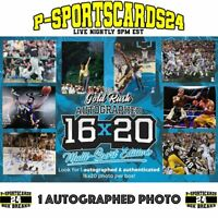 2020 GOLD-RUSH AUTOGRAPHED 16X20 MULTI-SPORT EDITION PHOTO LIVE BOX BREAK #3755