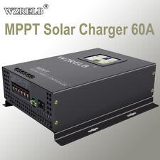 Wzrelb 60A Mppt Solar Charger 12/24/36/48V Battery Regulator Control 170V Pv In