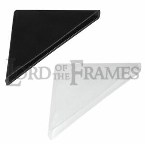 4mm Black or White Plastic Corner Protectors for Panels Glass 35x35mm 4-500 Pack