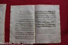 ✒ ca.1807 Partition gravée - PAGES MEISSONNIER L'inconstance à Iris
