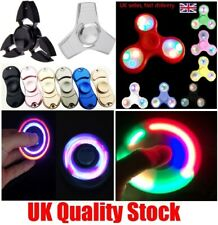 LED Flashing Fidget Hand Spinner Finger Tri-Spinner Light Up Stress Release Toys