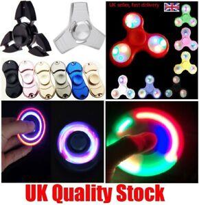 LED Flashing Fidget Hand Spinner Finger Tri-Spinner Light Up Stress Release Toys
